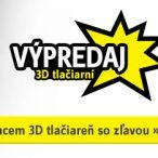 Výpredaj 3D tlačiarní so zľavou až 30% na Conrad.sk