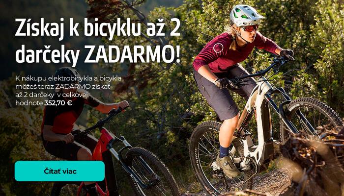 Až 2 darčeky k nákupu nového bicykla alebo elektrobicykla!