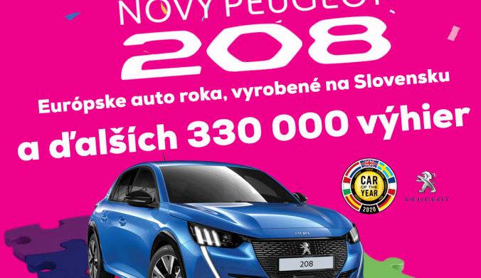 Súťaž o nový slovenský Peugeot 208 a ďalších 330 000 výhier