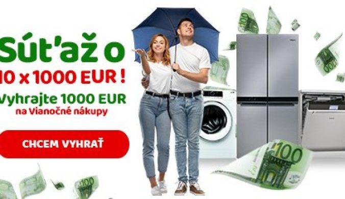 Teraz máte skvelú šancu vyhrať až 1000 Eur na Vianočné nákupy. Spoločne vyžrebujeme 10 výhercov. Súťaž trvá do 10.12.2020!