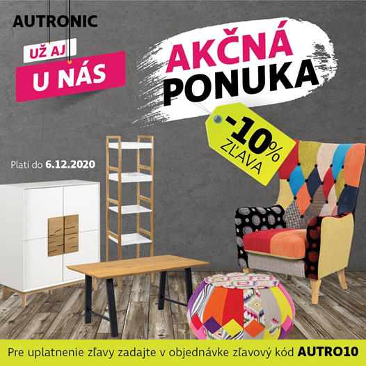 Bytové doplnky a nábytok AUTRONIC so zľavou -10% na AndreaShop.sk