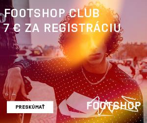 FOOTSHOP CLUB - 7€ zľava za registráciu