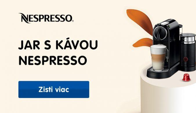 Poukaz v hodnote 45€ na nákupu kávy Nespresso