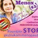 Menox45 menoupauza, zľavový kupón 5%
