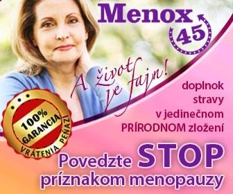 Menox45 menoupauza, zľavový kupón 2€